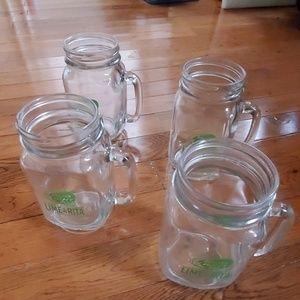 BUD LIGHT LIME-A-RITA Faux Mason Jar Cups